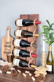 chic diy rustic wine rack with shelterness