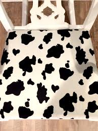 home painted coop design cow print rocker