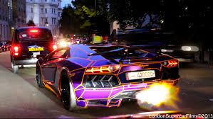 lamborghini aventador purple glow in the dark u0027tron u0027 al thani lamborghini aventador spitting