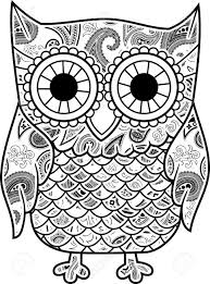 Patterned Flying Owl Drawing Illustration Abstract Owl Drawing At Getdrawings Com Free For Personal Use