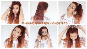 10 quick and easy hairstyles for uni work youtube