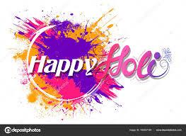 happy holi background for color festival of india celebration