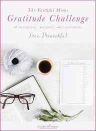one habit to help grow in gratitude a free printable