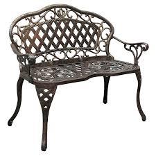Solid Cast Aluminum Patio Furniture by Innova Regis Promo Loveseat Cast Iron Cast Aluminum Outdoor Bench