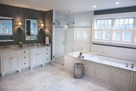 modern master bathroom with undermount sink u0026 drop in bathtub