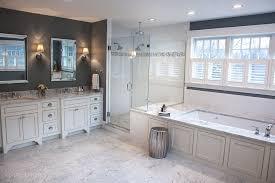 modern master bathroom with undermount sink u0026 drop in bathtub