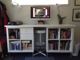 work spaces for small places ikea expedit to diy standing desk