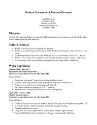 Job Resume Cover Letter Example Federal Resume Cover Letter Sample Cover Letter For Government Job
