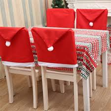 santa chair covers aliexpress buy 6pcs set new santa hat chair covers