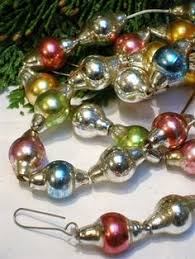 mercury glass garland i my s and use it every year