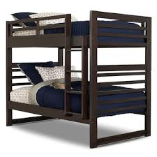 sofa becomes bunk bed chadwick twin twin bunk bed espresso the brick