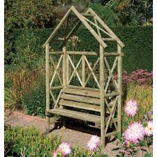 rustic seat arbour bench trellis fsc timber pressure treated