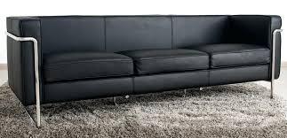 canape lit cuir 3 places canape cuir qualite le bauhaus canapac 3 places noir cuir premiare