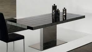 black contemporary dining table favored black and white dining room decors with square modern dining