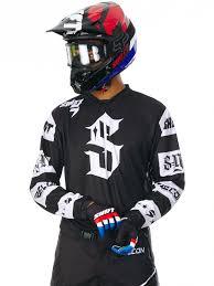 motocross gear ireland shift black 2017 recon checkers mx jersey shift