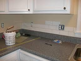 installing subway tile backsplash in kitchen overall kitchen pictures with subway tile backsplash and concrete