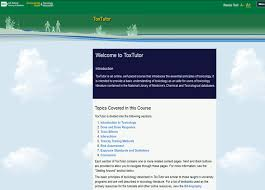 online tutorial library national library of medicine announces updating of toxicology