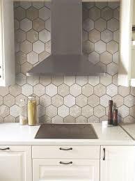 Best Hexagon Tiles In The Kitchen Images On Pinterest Hexagon - Hexagon tile backsplash