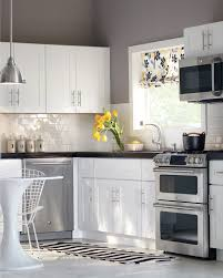 Backsplash For Kitchen With White Cabinet White Cabinets Subway Tile Gray Walls U003d Perfection Kitchen