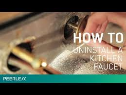 how to uninstall a kitchen faucet how to