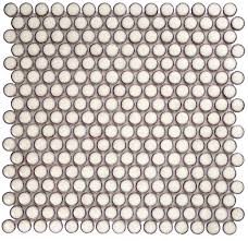 Best 25 Penny Round Tiles by Eden Winter White Penny Round Polished Rimmed Ceramic Tile