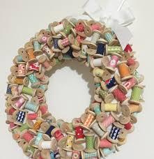 mini spool wreath a christmas tutorial live love sew pattern co