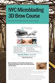 make up courses in nyc nyc microblading 3d brow course new york microblading
