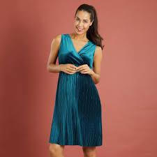 satiny velour sleeveless maternity dress maternity blue kiabi