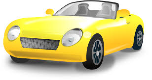 cartoon convertible car clipart yellow convertible sports car