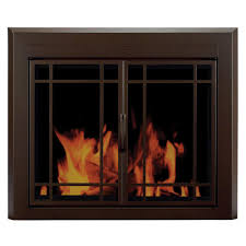 pleasant hearth enfield small glass fireplace doors en 5500 the