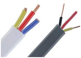 twin and earthing flat electrical pvc insulation wire with bs