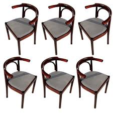 Bentwood Dining Chair Set Of Six Bentwood Dining Chairs At 1stdibs
