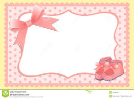 template for baby s card royalty free stock photography
