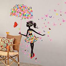 stickers fille chambre saingace beau papillon fleur fée stickers muraux filles