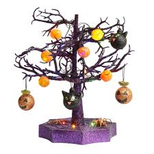19 tabletop tree with lighted ornaments