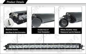 20 single row led light bar s series 20 single row led light bar white leds combination beam