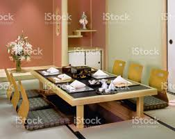 traditional japanese dining table tokyo japan stock photo 92255993