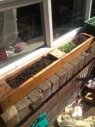 Window Sill Herb Garden Designs Window Planter Made From Pallet Window Sill Herb Garden