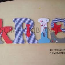 chambre mister bouh prénom en bois plaque de porte lettre en bois personnalisé