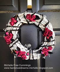 faerie dust dreams home decor a pink and black classy wreath