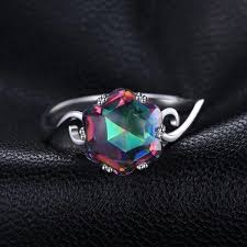 jewelry topaz rings images Genuine rainbow fire mystic topaz ring solid 925 sterling silver jpg