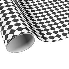 black and white wrapping paper black and white diamond shape pattern by staylor wrapping paper