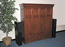 Entertainment Armoire With Pocket Doors Tv Stands Flat Panel Credenzas Tv Bases And Home Theater Furniture