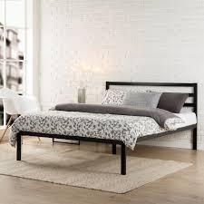 Wood And Metal Bed Frames Modern Studio Platform 1500h Metal Bed Frame Mattress Foundation