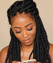 Braided Hairstyles With Weave Best 25 Thick Box Braids Ideas On Pinterest Protective Styles