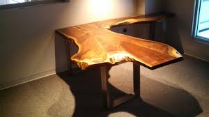 live edge computer desk furniture live edge wooden desks natural live edge dining table