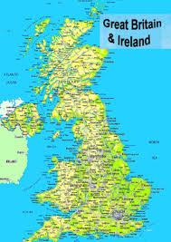 map uk ireland scotland laminated map of great britain uk scotland wales n