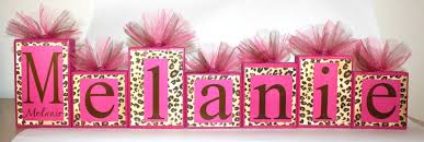 cheetah print party supplies leopard print with hot pink name blocks melanie collection