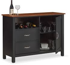 nantucket sideboard black and cherry value city furniture and