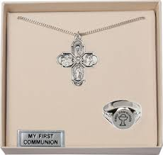 communion jewelry gold holy communion 4 way cross and chalice ring jewelry set